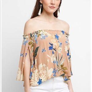 Never worn off the shoulder floral top